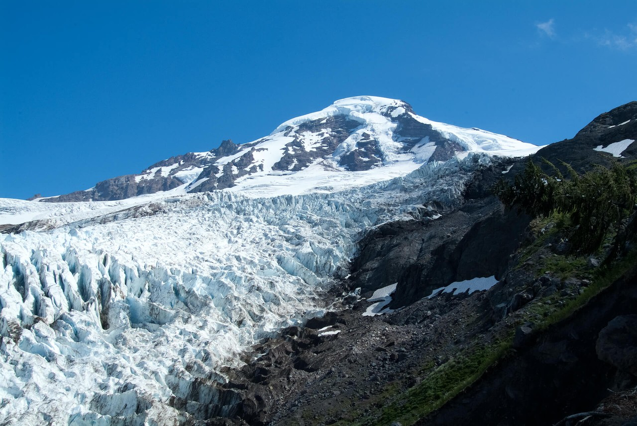Believe it or not but a real glacier is within walking distance on Mount Baker. The Heliotrope Trail is a little rugged in spots (and wet in a few others) but the rewards are worth it.