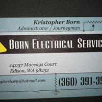 Born Electrical Services logo