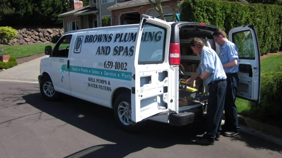 Brown's Plumbing & Pumps logo