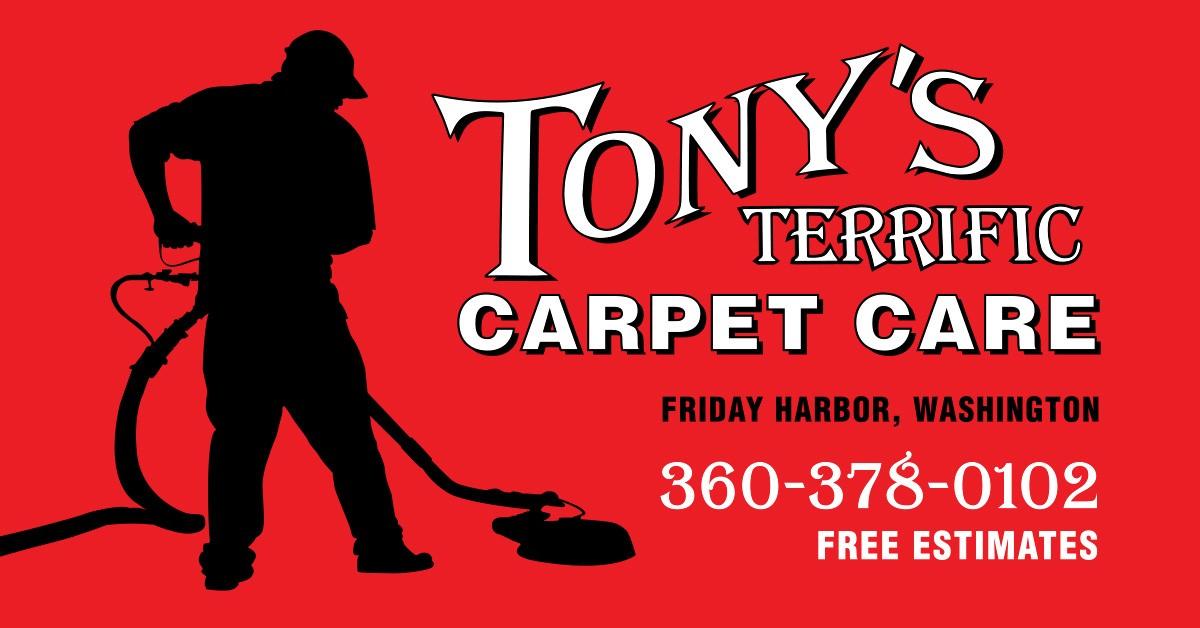 Tony's Terrific Carpet Care logo