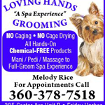 Loving Hands Grooming logo