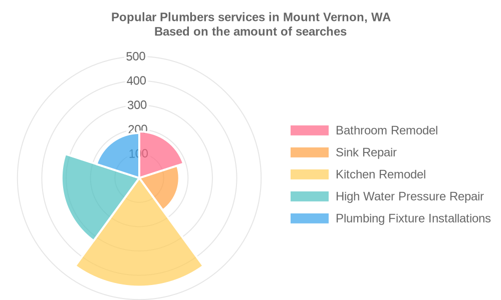 Popular services provided by plumbers in Mount Vernon, WA