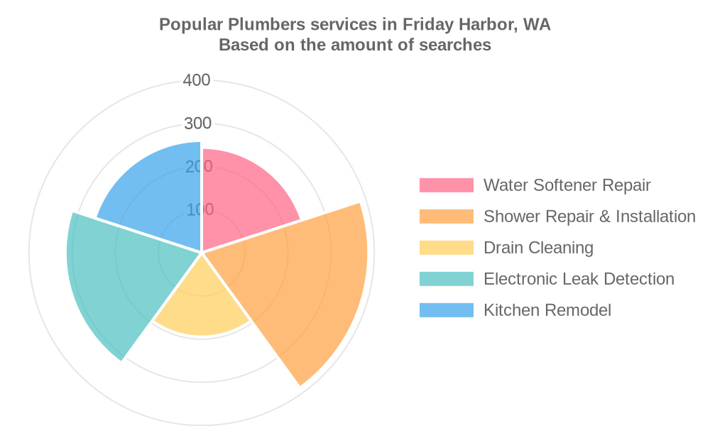 Popular services provided by plumbers in Friday Harbor, WA