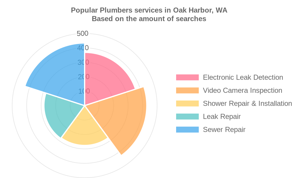 Popular services provided by plumbers in Oak Harbor, WA