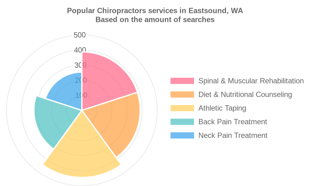 Popular services provided by chiropractors in Eastsound, WA