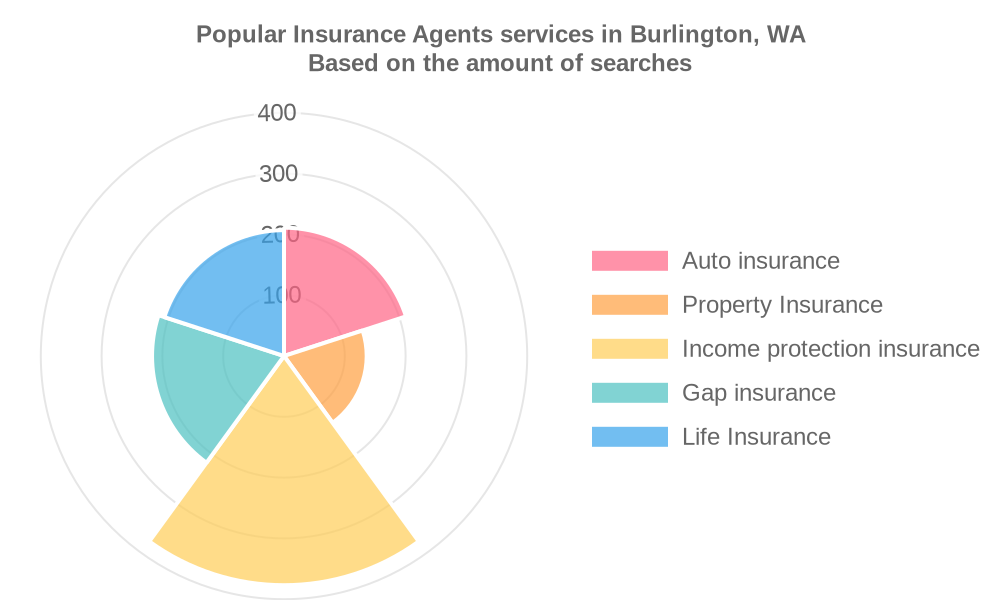 Popular services provided by insurance agents in Burlington, WA