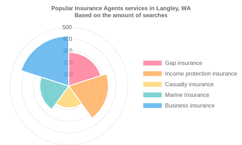 Popular services provided by insurance agents in Langley, WA