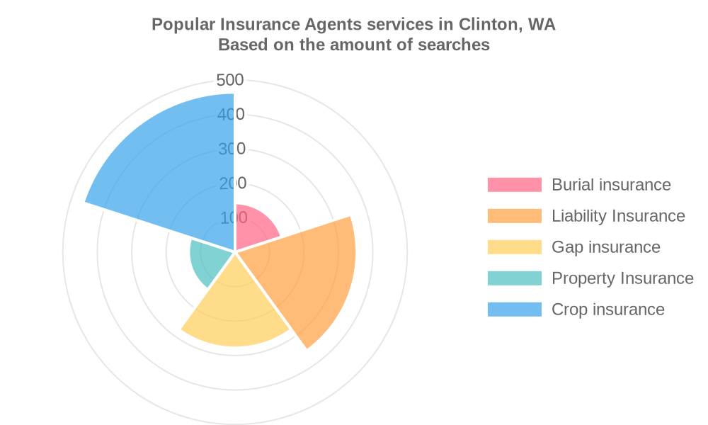 Popular services provided by insurance agents in Clinton, WA