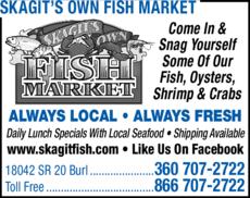 Print Ad of Skagit's Own Fish Market