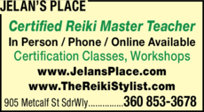 Yellow Pages Ad of Jelan's Place