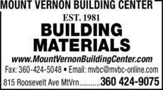 Print Ad of Mount Vernon Building Center