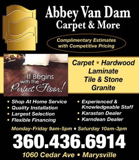 Print Ad of Abbey Van Dam Carpet & More