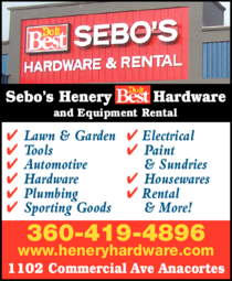 Print Ad of Sebo's Henery Hardware & Equipment Rental