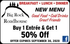 Print Ad of Big Rock Roadhouse