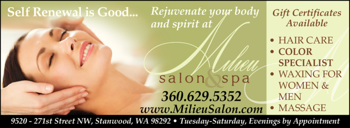 Yellow Pages Ad of Milieu Salon