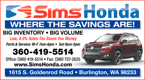 Yellow Pages Ad of Sims Honda