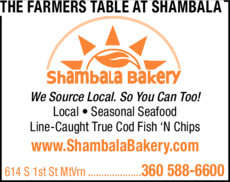 Yellow Pages Ad of Shambala Bakery & Bistro