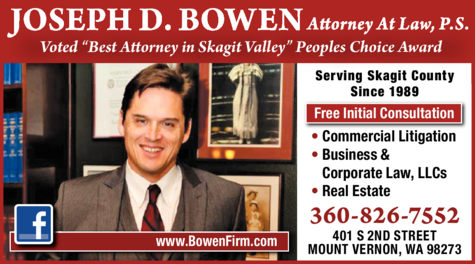 Print Ad of Bowen Joseph D Attorney At Law Ps