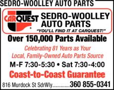 Print Ad of Sedro-Woolley Auto Parts