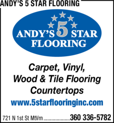 Print Ad of Andy's 5 Star Flooring