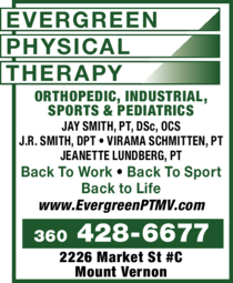 Evergreen Physical Therapy Mount Vernon Wa Skagit Directory