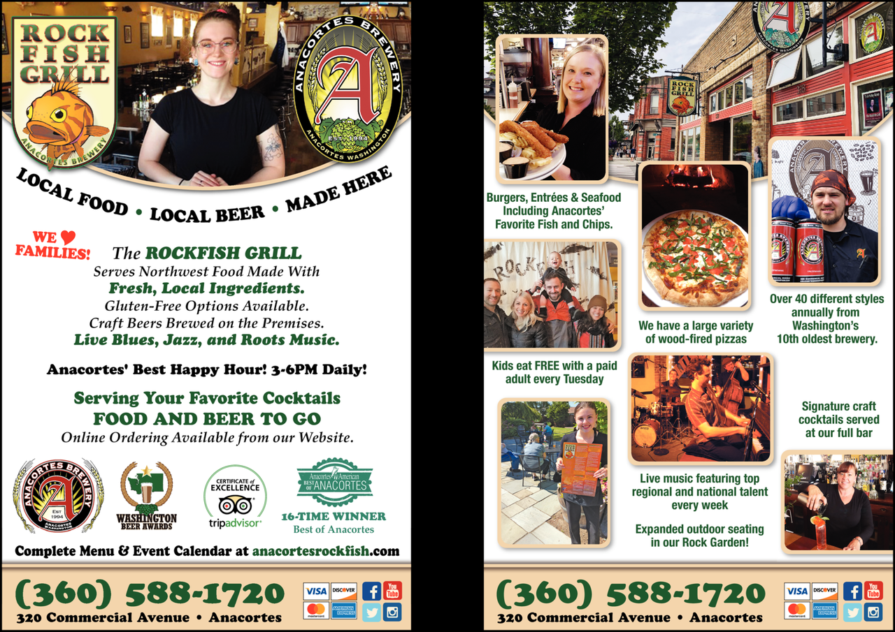 Print Ad of Anacortes Brewery / Rockfish Grill