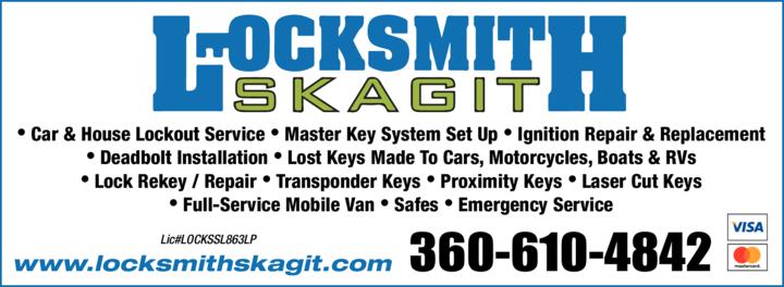 Print Ad of Locksmith Skagit Llc