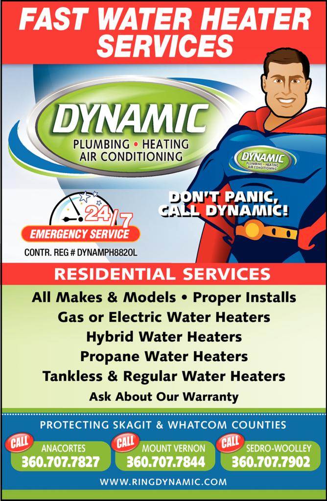 Print Ad of Dynamic Plumbing & Heating Llc