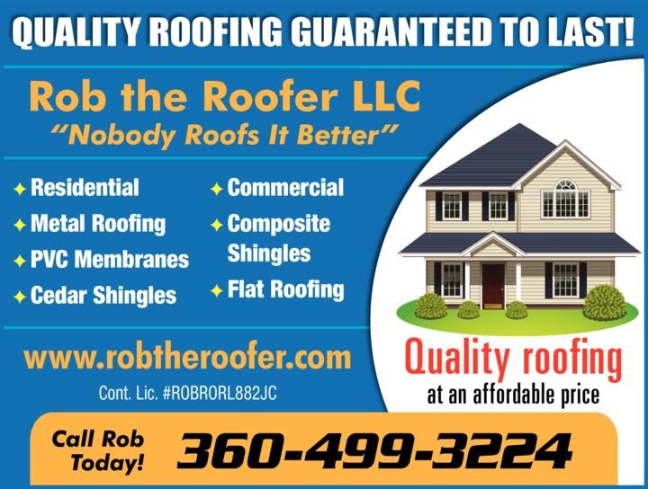 Rob The Roofer Llc Oak Harbor Wa Skagit Directory