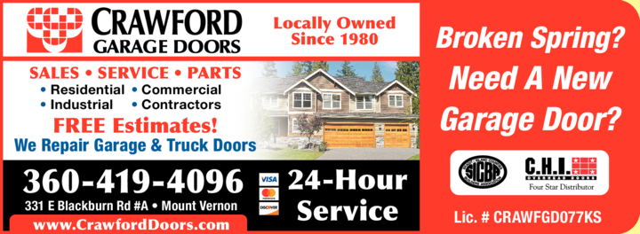 Print Ad of Crawford Garage Doors Inc