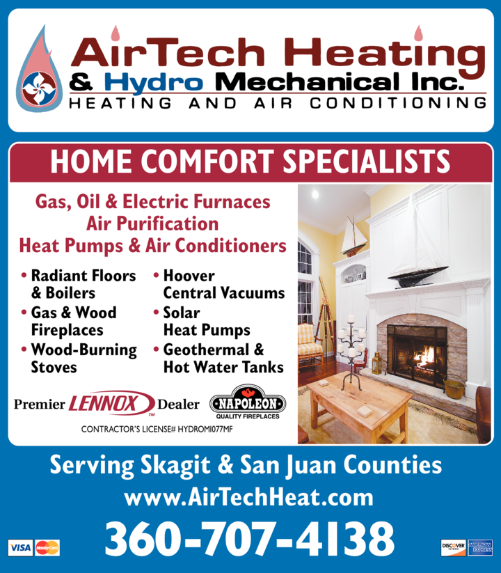 Yellow Pages Ad of Airtech Heating & Hydro Mechanical Inc