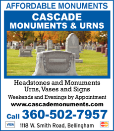 Print Ad of Cascade Monuments & Urns