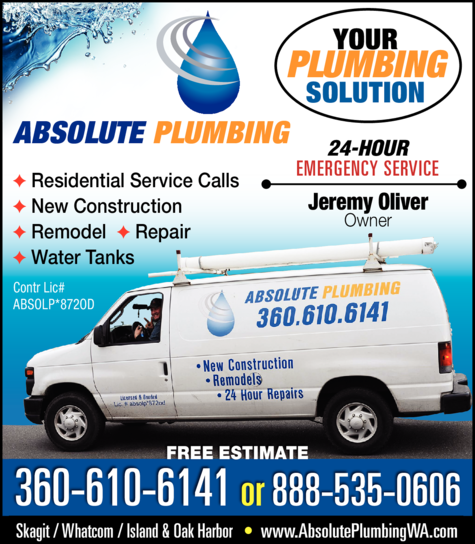 Yellow Pages Ad of Absolute Plumbing