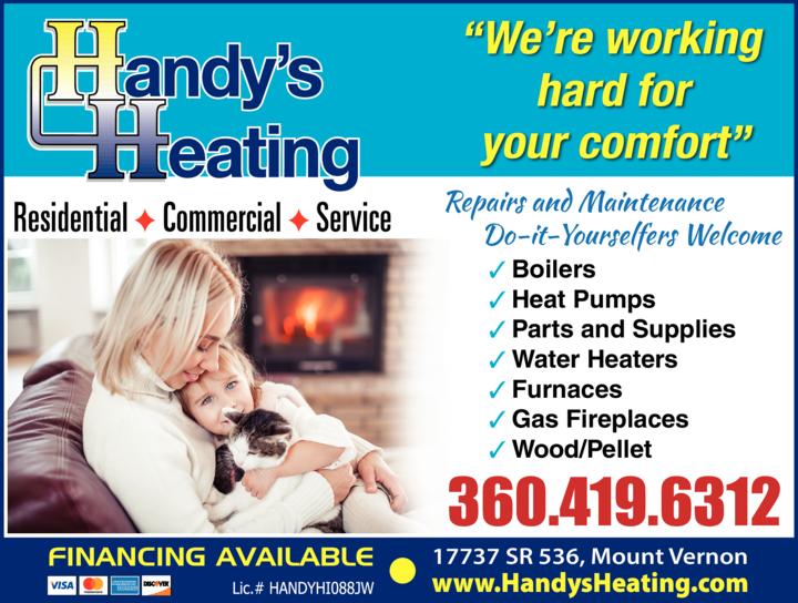 Print Ad of Handy's Heating Inc