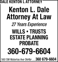 Print Ad of Dale Kenton L Attorney