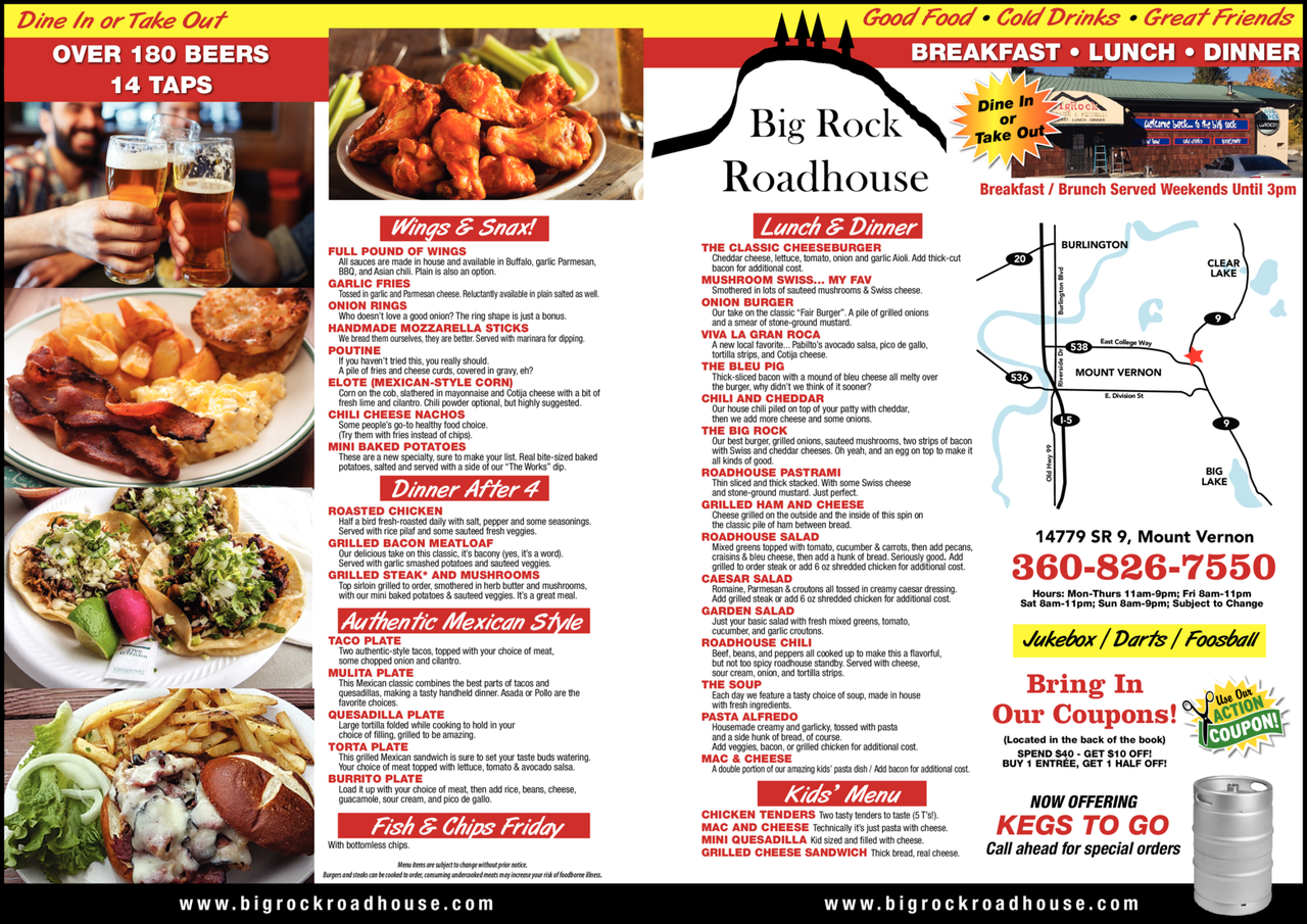 Yellow Pages Ad of Big Rock Roadhouse
