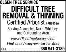 Print Ad of Olsen Tree Service