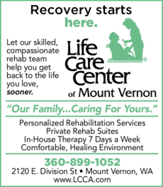 Yellow Pages Ad of Life Care Center Of Mount Vernon
