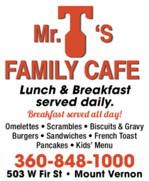 Yellow Pages Ad of Mr T'S Family Cafe