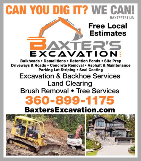 Print Ad of Baxter's Excavation Llc
