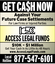 Print Ad of Access Legal Funds