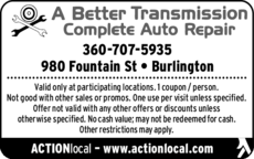 Yellow Pages Ad of A Better Transmission