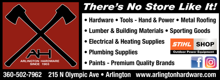 Yellow Pages Ad of Arlington Hardware & Lumber Inc