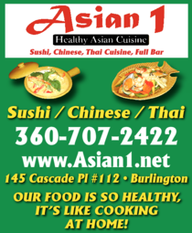 Yellow Pages Ad of Asian 1 Restaurant