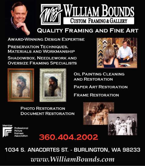 Print Ad of William Bounds Custom Framing & Gallery