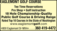 Yellow Pages Ad of Eaglemont Golf Course