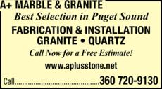 Print Ad of A+ Marble & Granite