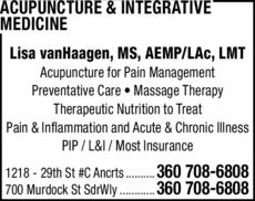 Print Ad of Acupuncture & Integrative Medicine