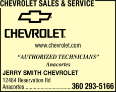 Yellow Pages Ad of Chevrolet Sales & Service