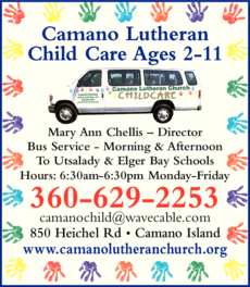 Yellow Pages Ad of Camano Lutheran Child Care